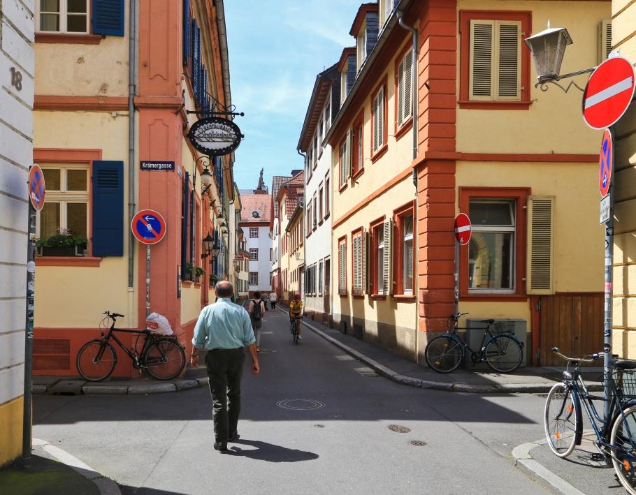 Ingrimstrasse, Heidelberger Altstadt, Altstadt, Old Town, Heidelberg, Baden-Wuerttemberg, Germany, fotoeins.com