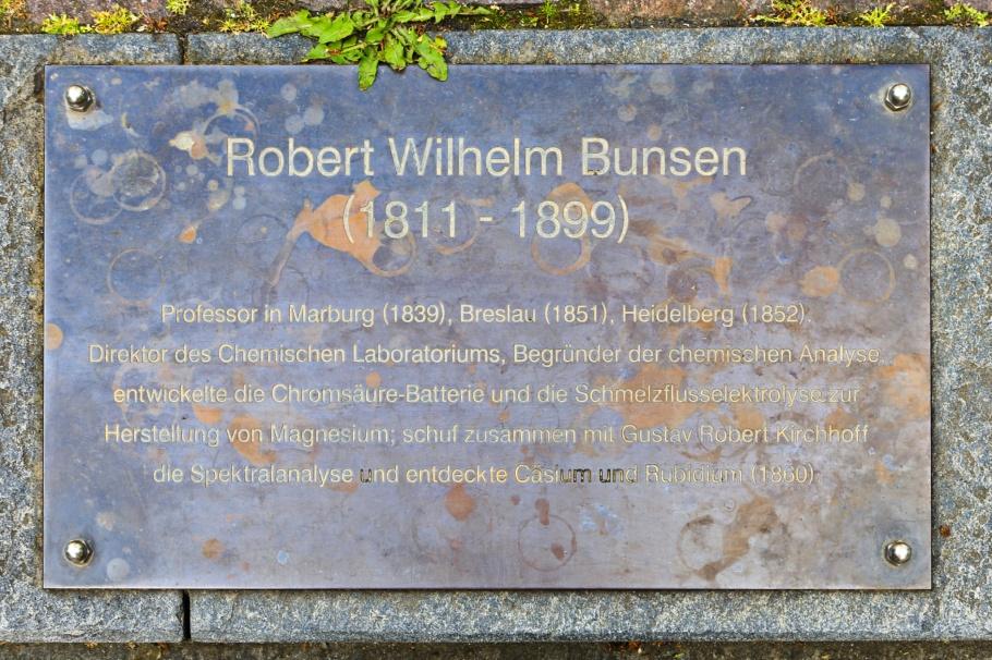 Bunsendenkmal, Robert Bunsen, Anatomiegarten, Altstadt, Old Town, Heidelberg, Baden-Württemberg, Germany, fotoeins.com