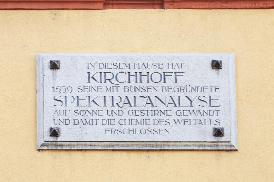 Robert Bunsen, Gustav Kirchhoff, Anatomiegarten, Altstadt, Old Town, Heidelberg, Baden-Württemberg, Germany, fotoeins.com