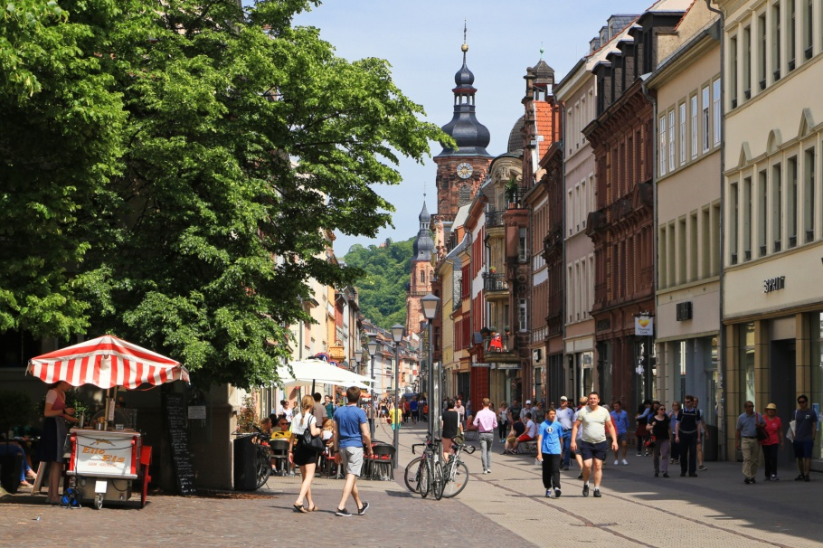 Hauptstrasse, Anatomiegarten, Altstadt, Old Town, Heidelberg, Baden-Württemberg, Germany, fotoeins.com