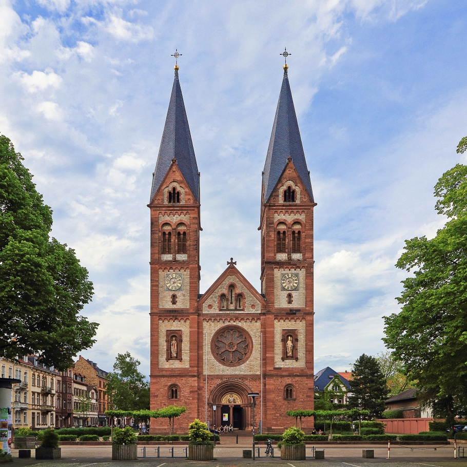 Wilhelmsplatz, St. Bonifatius-Kirche, Weststadt, HD-Weststadt, Heidelberg, Baden-Württemberg, Germany, Deutschland, fotoeins.com