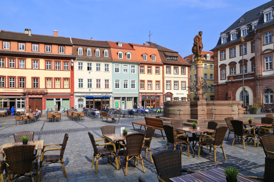 Marktplatz, Altstadt, Old Town, Heidelberg, Baden-Württemberg, Germany, fotoeins.com