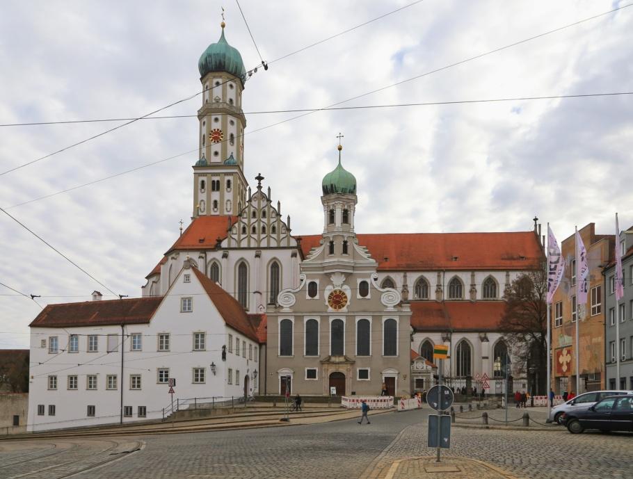 Basilika St. Ulrich und Afra, Ulrichsplatz, Augsburg, Bayern, Bavaria, Swabia, Schwaben, Germany, Deutschland, fotoeins.com