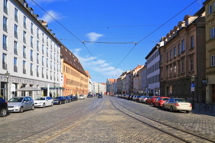 Maximilianstrasse, Augsburg, Bayern, Bavaria, Swabia, Schwaben, Germany, Deutschland, fotoeins.com