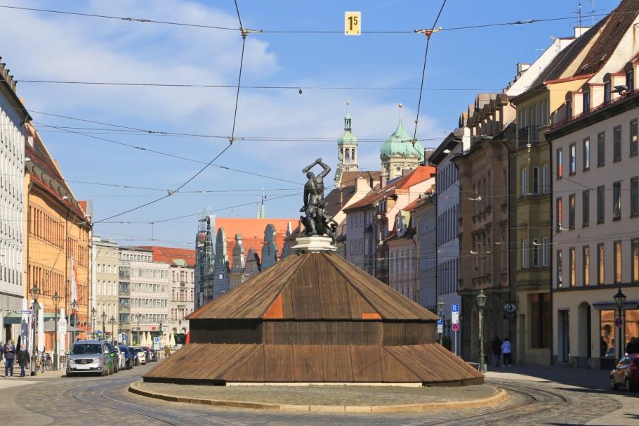 Herkulesbrunnen, Maximilianstrasse, Augsburg, Bayern, Bavaria, Swabia, Schwaben, Germany, Deutschland, fotoeins.com