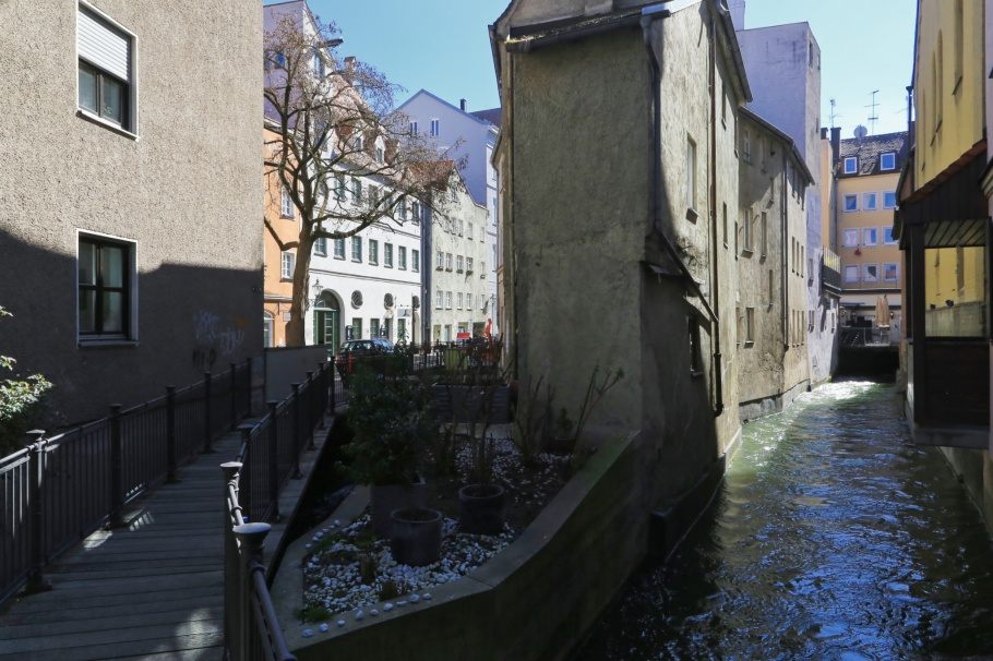 Hinterer Lech, Lechkanalen, Wassersystem, Augsburg, Bayern, Bavaria, Germany, Deutschland, fotoeins.com