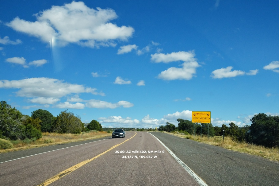 US 60, Arizona-New Mexico border, AZ-NM border, Arizona, New Mexico, USA, fotoeins.com
