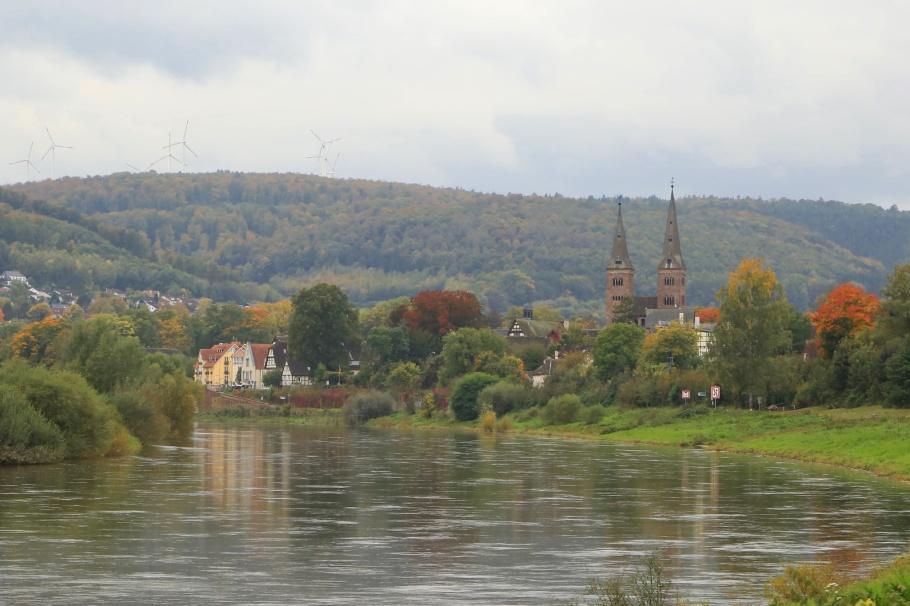 Höxter, Weser river, North Rhine-Westphalia, Nordrhein-Westfalen, Germany, Deutschland, UNESCO, World Heritage, Welterbe, Weltkulturerbe, fotoeins.com