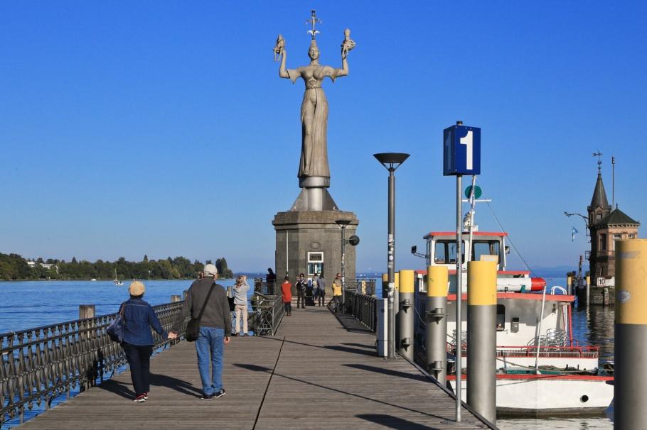 Imperia, Bodensee, Lake Constance, Konstanz Hafen, Konstanz, Constance, Baden-Württemberg, Germany, Deutschland, fotoeins.com