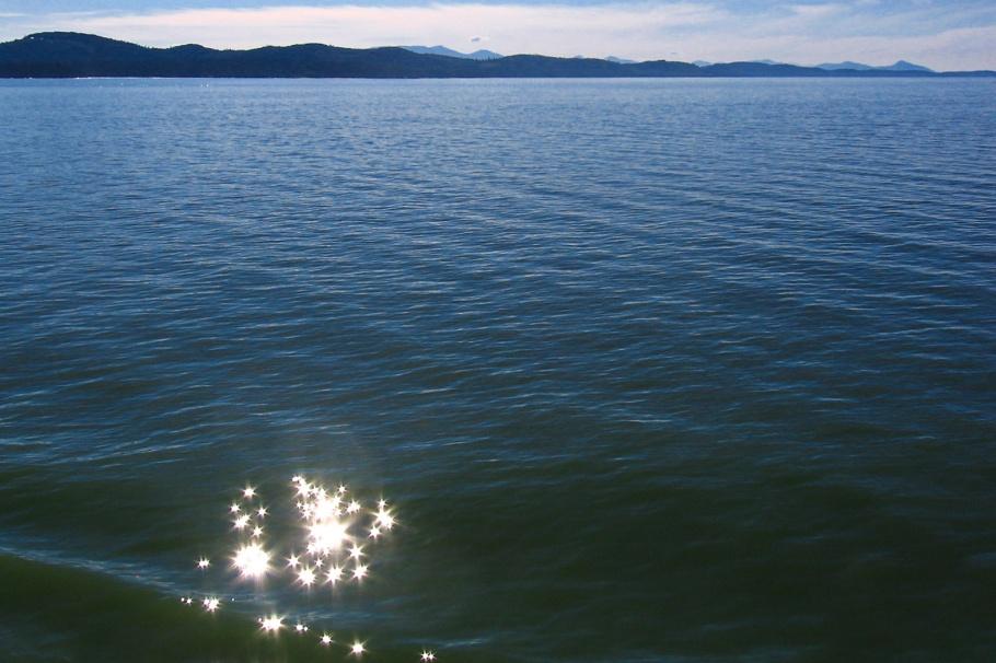 Strait of Georgia, Georgia Strait, Salish Sea, BC Ferries, Vancouver Island, BC, Canada, fotoeins.com