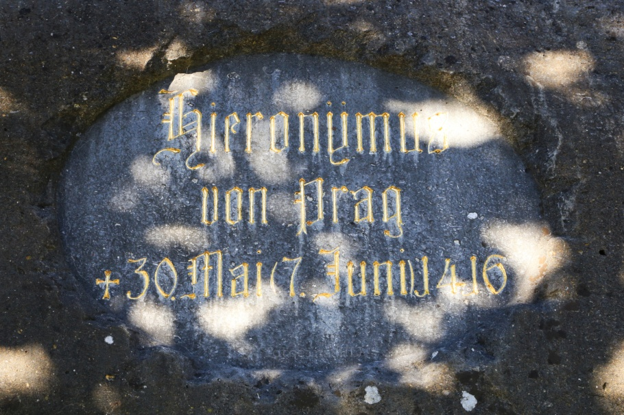 Hussenstein, Hus Memorial Stone, Jan Hus, John Huss, Jerome of Prague, Konstanz, Constance, Baden-Württemberg, Germany, Deutschland, fotoeins.com