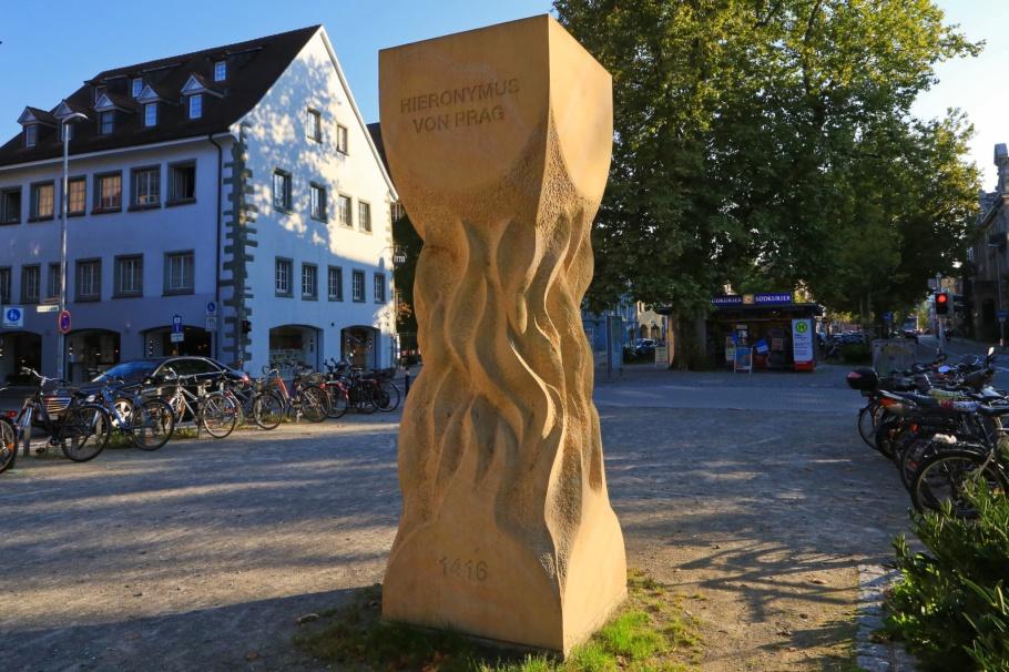 Hus-Denkmal, Hus Monument, Jan Hus, John Huss, 1415, Hieronymus von Prag, 1416, Lutherplatz, Konstanz, Baden-Württemberg, Germany, Deutschland, fotoeins.com
