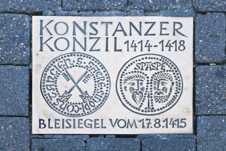 Gedenktafel Konstanzer Konzil, Commemorative plaque of the Constance Council, Kanzleistrasse, Konstanzer Altstadt, Konstanz, Constance, Baden-Württemberg, Germany, Deutschland, fotoeins.com