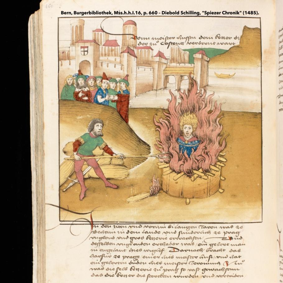 Spiezer Chronik, Diebold Schilling, Jan Hus, John Huss, Constance, Konstanz, Germany, Deutschland, fotoeins.com