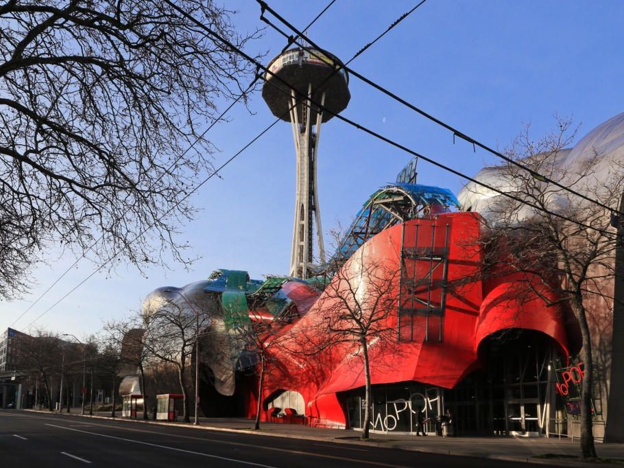 MoPOP, Museum of Pop Culture, Space Needle, that tower again, Seattle, Washington, USA, Pacific Northwest, fotoeins.com