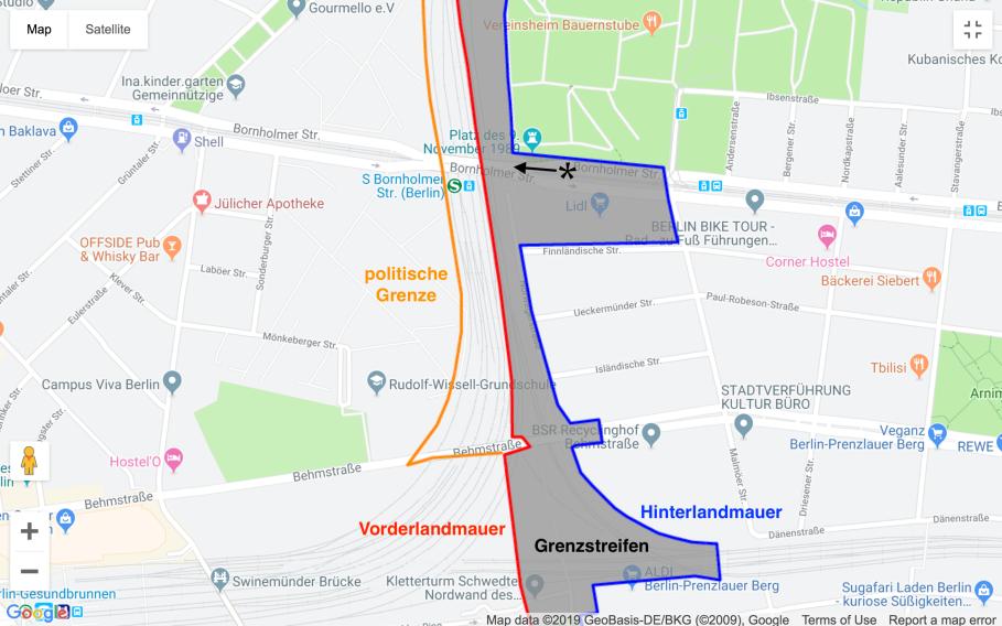 Berliner Mauer, Bornholmer Strasse, Berlin.de