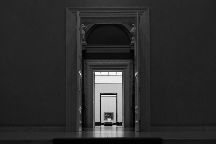 Alte Nationalgalerie, Museumsinsel, Museum Island, Hauptstadt, Berlin, Deutschland, Germany, fotoeins, black and white, monochrome
