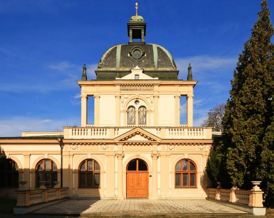 Obřadní síň, Ceremonial Hall, Nový židovský hřbitov, New Jewish Cemetery, Olšany Cemetery, Olšanské hřbitovy, Prague, Prag, Praha, Czech Republic, fotoeins.com