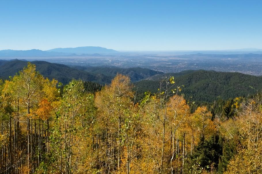Vista Grande Lookout, Santa Fe National Forest Scenic Byway, Santa Fe National Forest, Española Ranger District, Santa Fe, New Mexico, USA, fotoeins.com