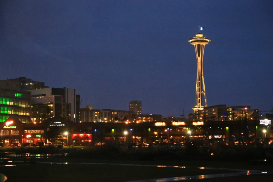 Space Needle, that tower again, MOHAI, Lake Union Park, Seattle, Washington, USA, Pacific Northwest, fotoeins.com