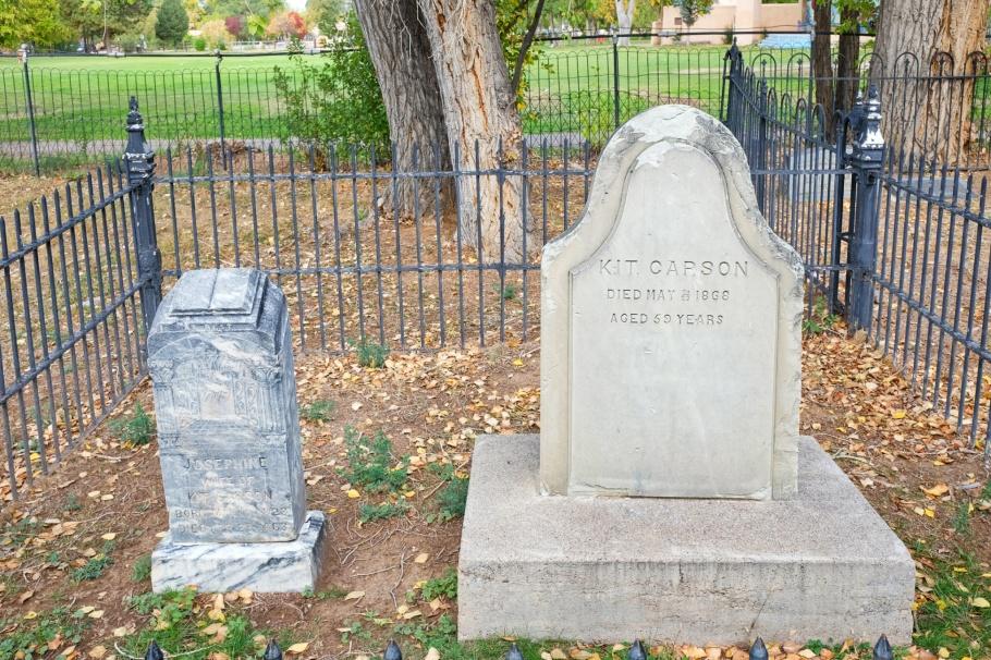 Josephine Carson, Kit Carson, Kit Carson Memorial Cemetery, Kit Carson Park, Taos, New Mexico, USA, fotoeins.com