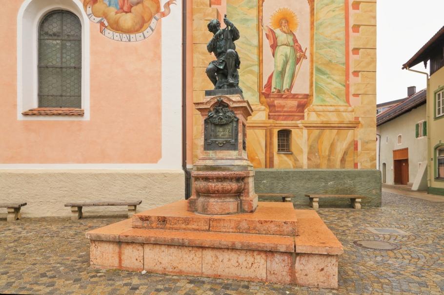 Klotz-Denkmal, Matthias Klotz, Mittenwald, Oberbayern, Upper Bavaria, Werdenfelser Land, Bayern, Bavaria, Germany, Deutschland, fotoeins.com