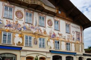 Lang selig Erben, Kofel, Dorfstrasse, Hote Alte Post, Oberammergau, Oberbayern, Upper Bavaria, Bayern, Bavaria, Germany, fotoeins.com