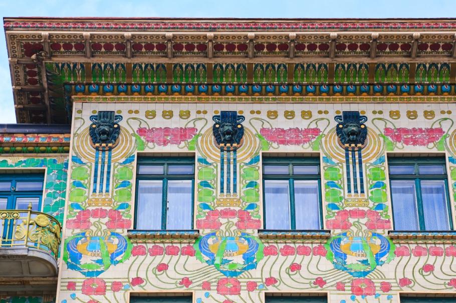 Majolikahaus, Linke Wienzeile 40, Otto Wagner, Vienna Modernism, Wiener Moderne, Wien, Vienna, Oesterreich, Austria, fotoeins.com