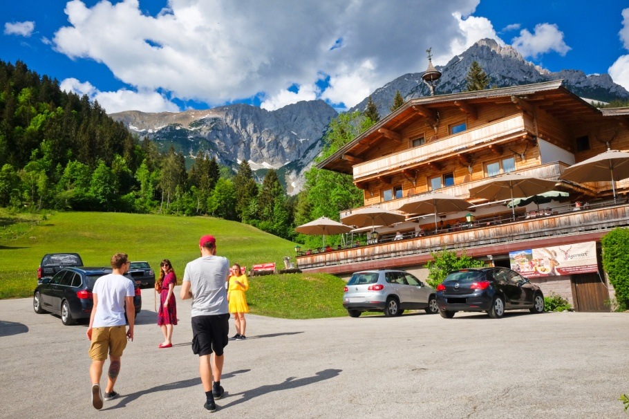 Gasthof Pension Jägerwirt, Scheffau, Wilder Kaiser, Tirol, Tyrol, Austria, Österreich, fotoeins.com