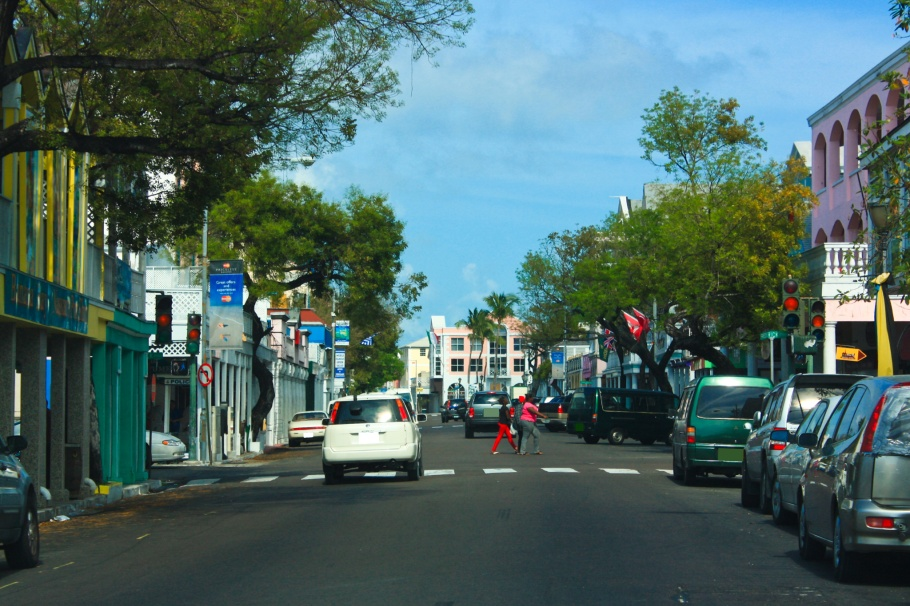 Bay Street, Nassau, New Providence, The Bahamas, Atlantic Ocean