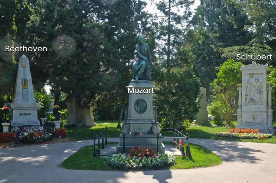 Beethoven, Mozart, Schubert, Wiener Zentralfriedhof, Wien, Vienna, Austria, Österreich, fotoeins.com