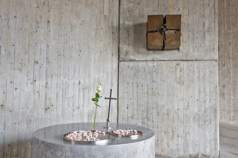 Coventry prayer service, Evangelische Versöhnungskirche, Protestant Reconciliation Church, KZ-Gedenkstätte Dachau, KZ Dachau, Dachau Concentration Camp Memorial Site, Dachau, Bavaria, Bayern, Germany, Deutschland, fotoeins.com