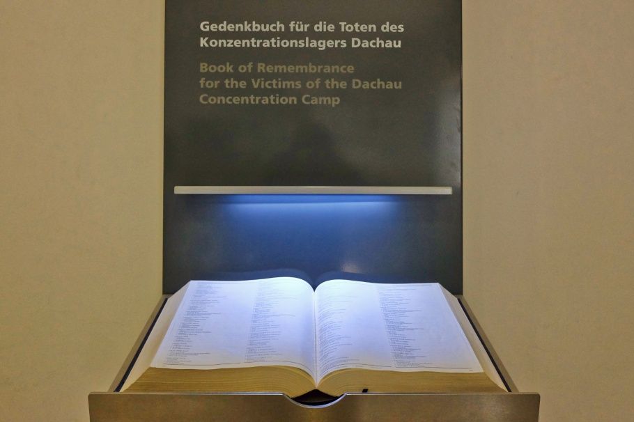 Book of Remembrance for the Victims of Dachau Concentration Camp, KZ-Gedenkstätte Dachau, KZ Dachau, Dachau Concentration Camp Memorial Site, Dachau, Bavaria, Bayern, Germany, Deutschland, fotoeins.com