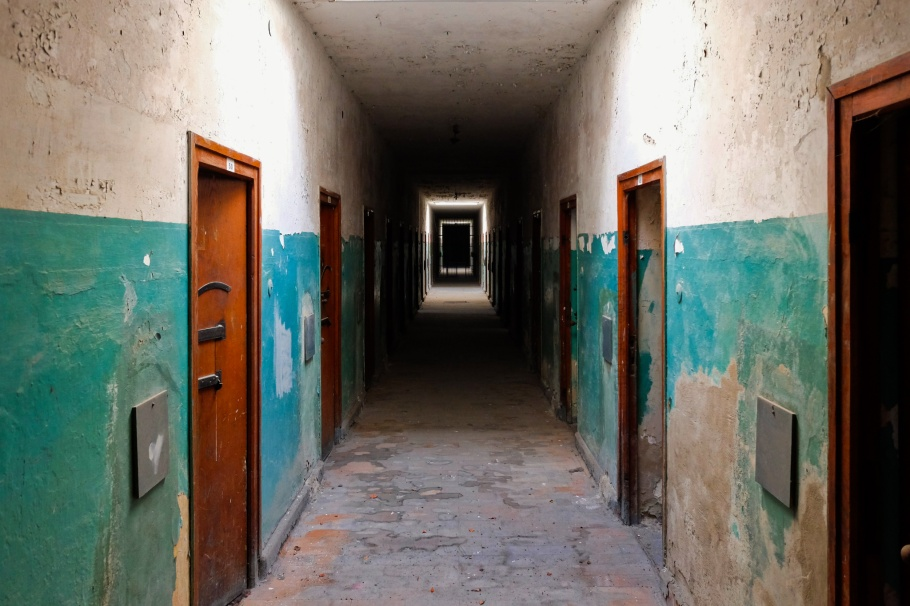 The Bunker, Lagergefängnis, KZ-Gedenkstätte Dachau, KZ Dachau, Dachau Concentration Camp Memorial Site, Dachau, Bavaria, Bayern, Germany, Deutschland, fotoeins.com