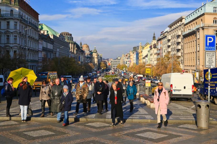 Václavské náměstí, Wenceslas Square, Nové Město, New Town, Prague, Prag, Praha, Czech Republic, Česká republika, fotoeins.com