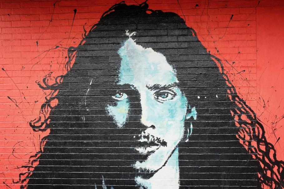 Chris Cornell mural, Son Duong, Easy Street Records, The Junction, West Seattle, Seattle, Washington, USA, fotoeins.com