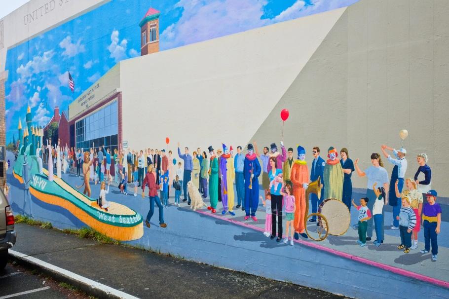 The Hi Yu Parade, Lanny Little, West Seattle, Seattle, Washington, USA, fotoeins.com