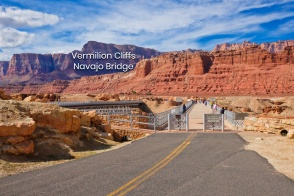 Navajo Bridge, Glen Canyon National Recreation Area, Navajo Bridge Interpretive Center, Colorado River, US 89A, US Route 89A, Lee's Ferry, Glen Canyon, Marble Canyon, Arizona, National Park Service, USA, fotoeins.com