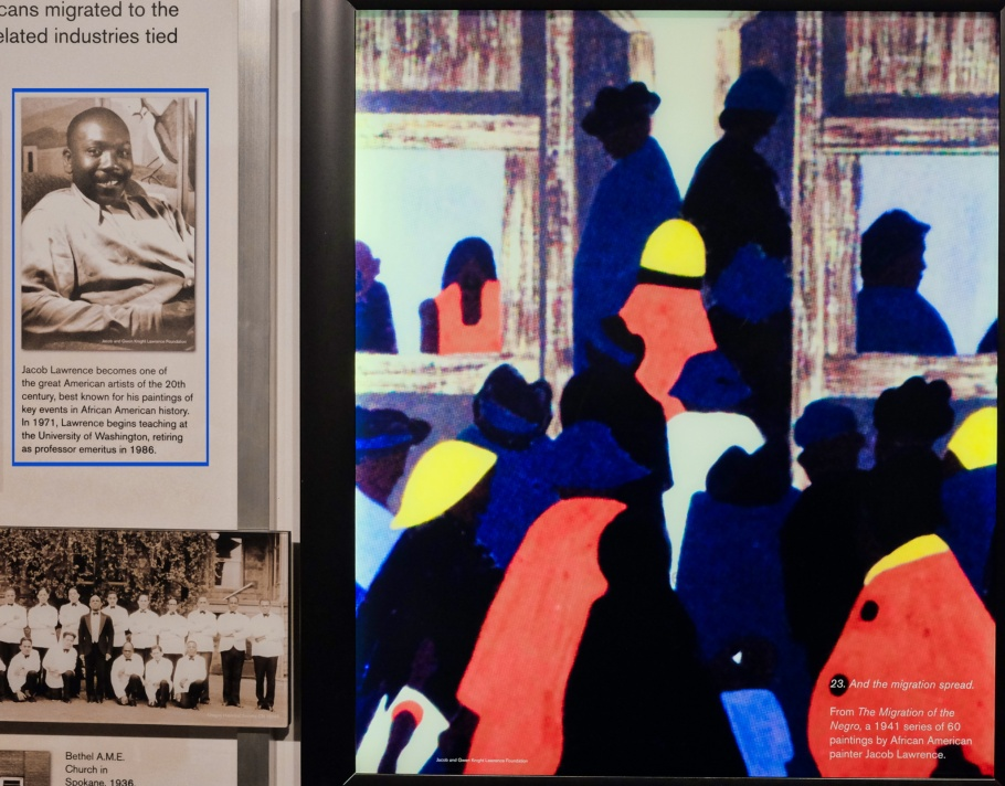 Jacob Lawrence, Migration Series, Northwest African American Museum, Colman School, Jimi Hendrix Park, Central District, Seattle, WA, USA, fotoeins.com