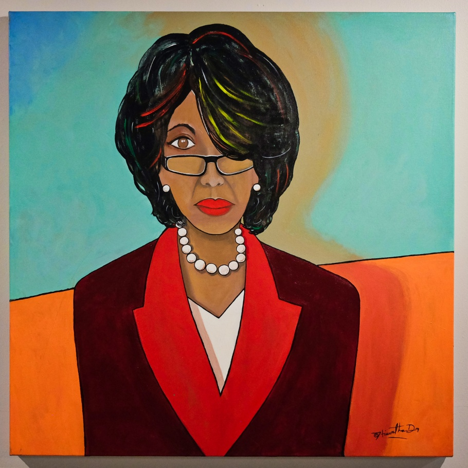 Maxine Waters, Iconic Black Women: Ain't I A Woman, Iconic Black Women, Hiawatha D, Northwest African American Museum, Colman School, Jimi Hendrix Park, Central District, Seattle, WA, USA, fotoeins.com