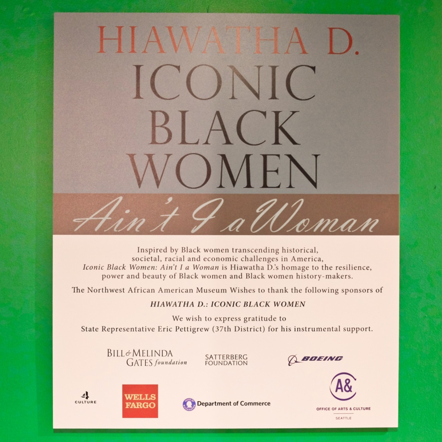 Iconic Black Women: Ain't I A Woman, Iconic Black Women, Hiawatha D, Northwest African American Museum, Colman School, Jimi Hendrix Park, Central District, Seattle, WA, USA, fotoeins.com