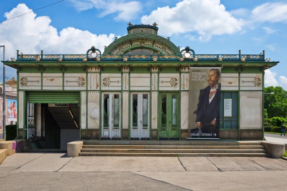 Karlsplatz, Pavillon Karlsplatz, Wien Museum Otto Wagner Pavillon Karlsplatz, Wien Museum, Otto Wagner, Vienna Modernism, Wiener Moderne, Wien, Vienna, Oesterrich, Austria, fotoeins.com