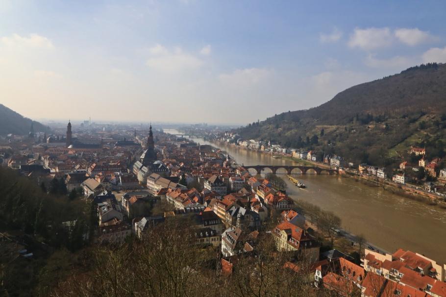 Schloss Heidelberg, Neckar river, Philosopher's Walk, Heidelberg Altstadt, Heidelberg, Baden-Wuerttemberg, Germany, Deutschland, fotoeins.com