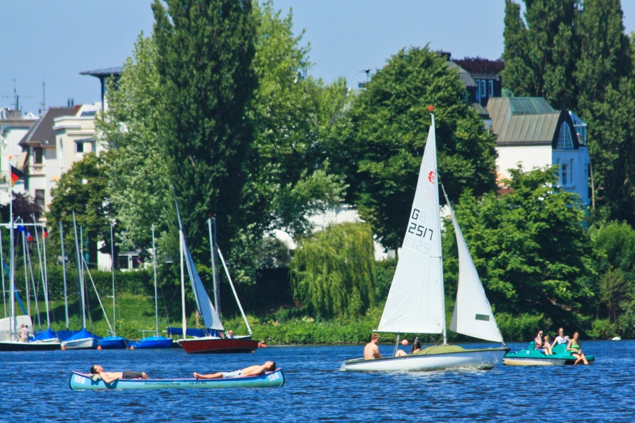 summer, Alster, Hamburg, Germany, Deutschland, fotoeins.com