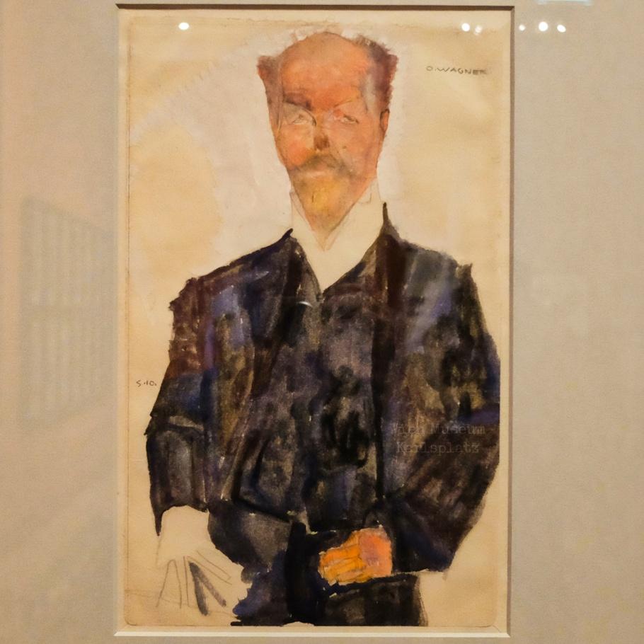 Otto Wagner, portrait, sketch, Egon Schiele, Wien Museum Karlsplatz, Wien Museum, Karlsplatz, Vienna Modernism, Wiener Moderne, Vienna, Wien, Austria, Oesterreich, fotoeins.com