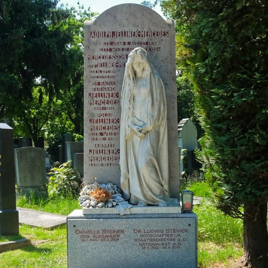 Mercedes Jellinek Schlosser, members of Jellinek family, Wiener Zentralfriedhof, Wien, Vienna, Austria, Oesterreich, fotoeins.com