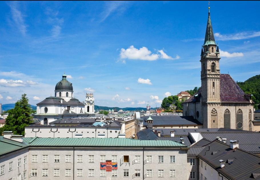 Herbert-Breiter-Terrasse, Dr.-Herbert-Klein-Weg, Moenchsberg, Salzburg, Oesterreich, Austria, fotoeins.com