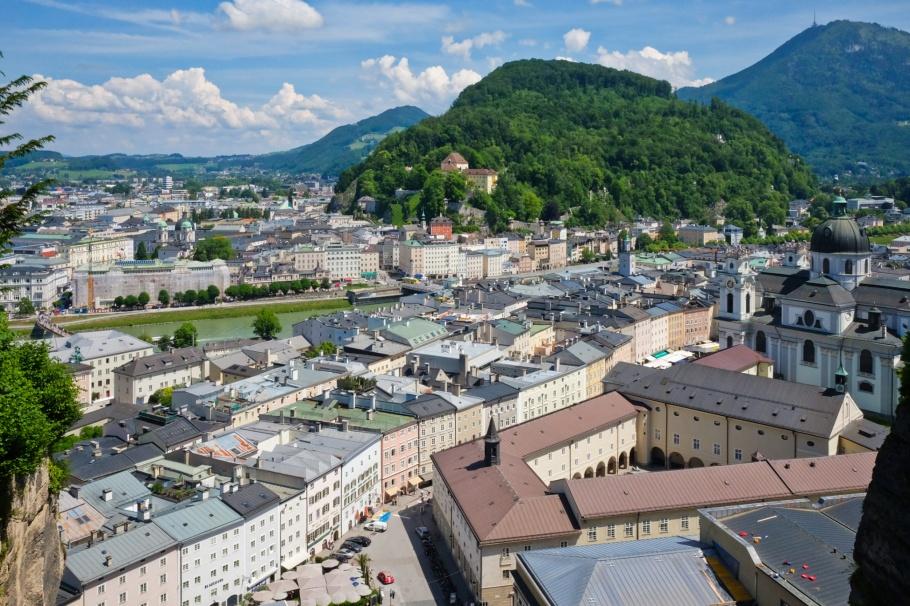 Neutor, Sigmundstor, Moenchsberg, Salzburg, Oesterreich, Austria, fotoeins.com