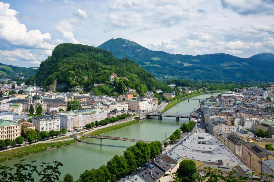 Aussichtsplattform am Mönchsberg, Moenchsberg, Salzburg, Oesterreich, Austria, fotoeins.com