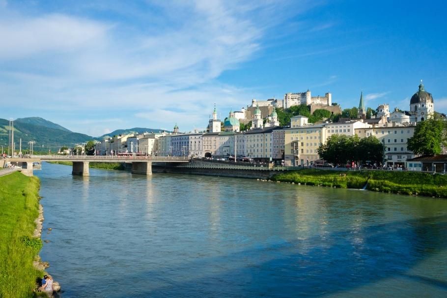 Makartsteg, Salzach river, Altstadt, Neustadt, Salzburg, Austria, Oesterreich, fotoeins.com